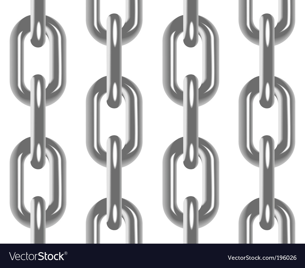 Chain seamless pattern vector