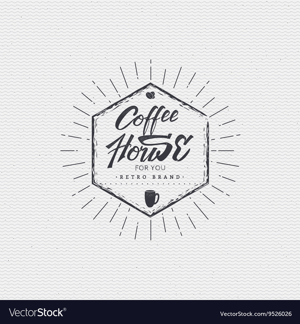 Coffee house  badge signboard can be used to vector