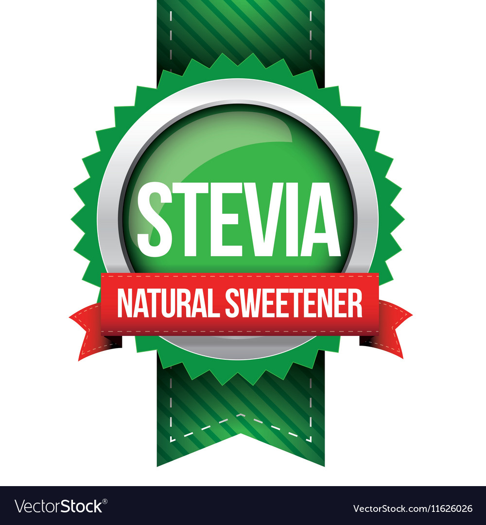 Stevia  natural sweetener ribbon vector