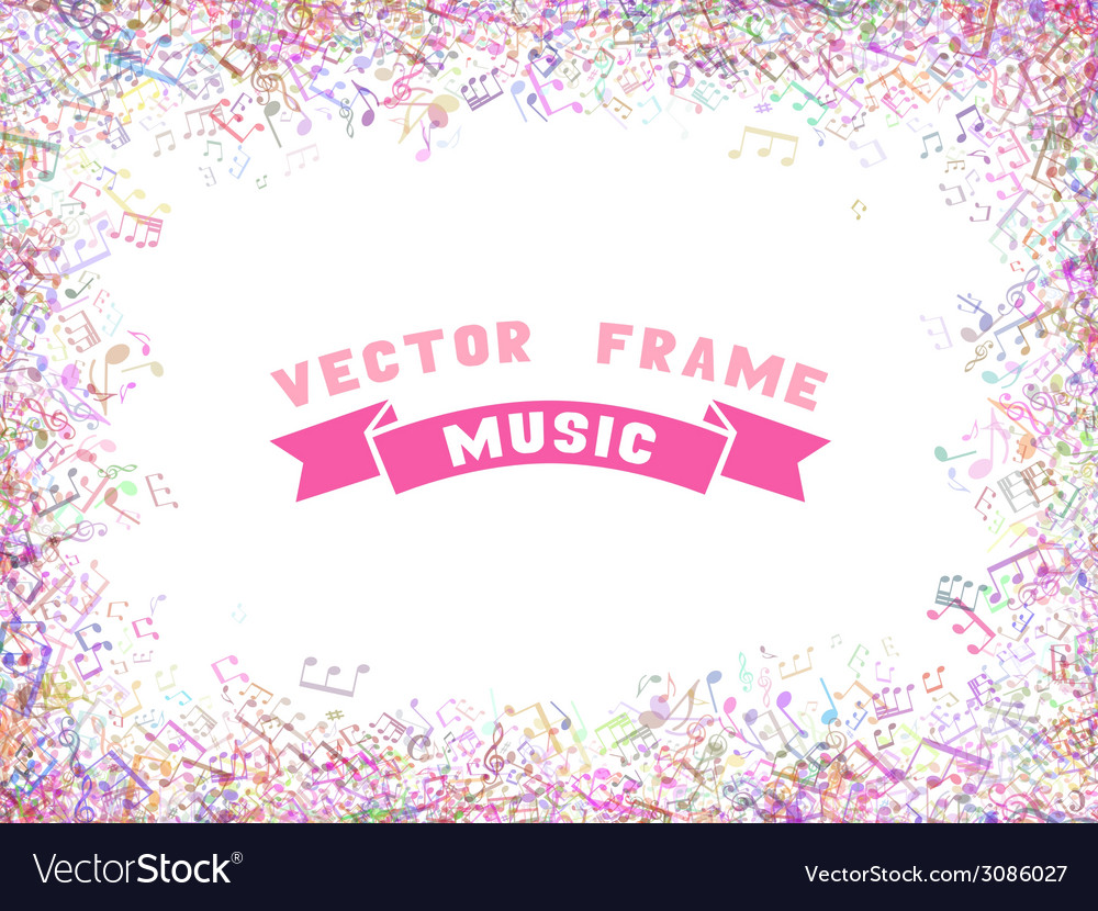 Colorful music frame vector