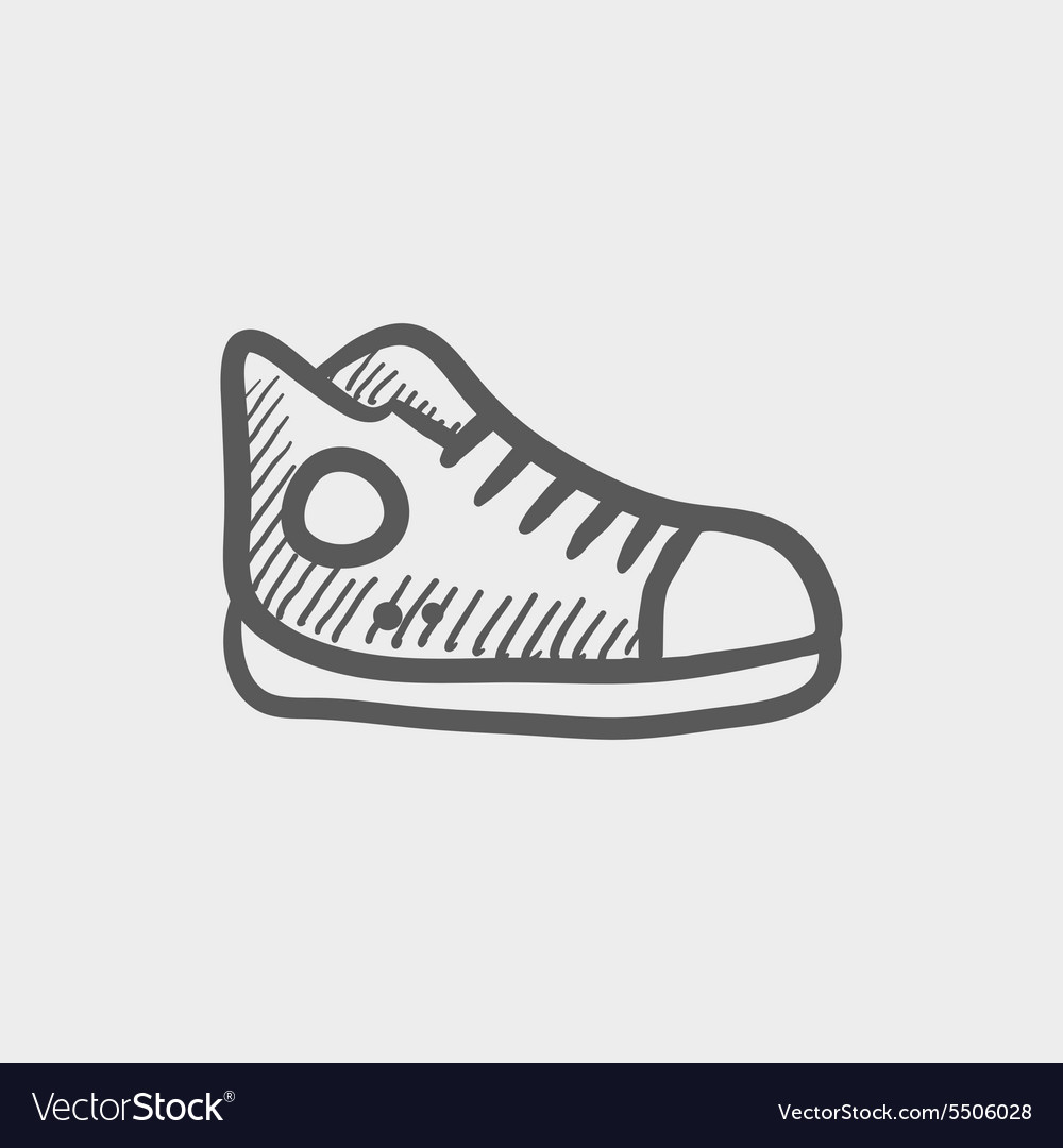 Hicut rubber shoes sketch icon vector