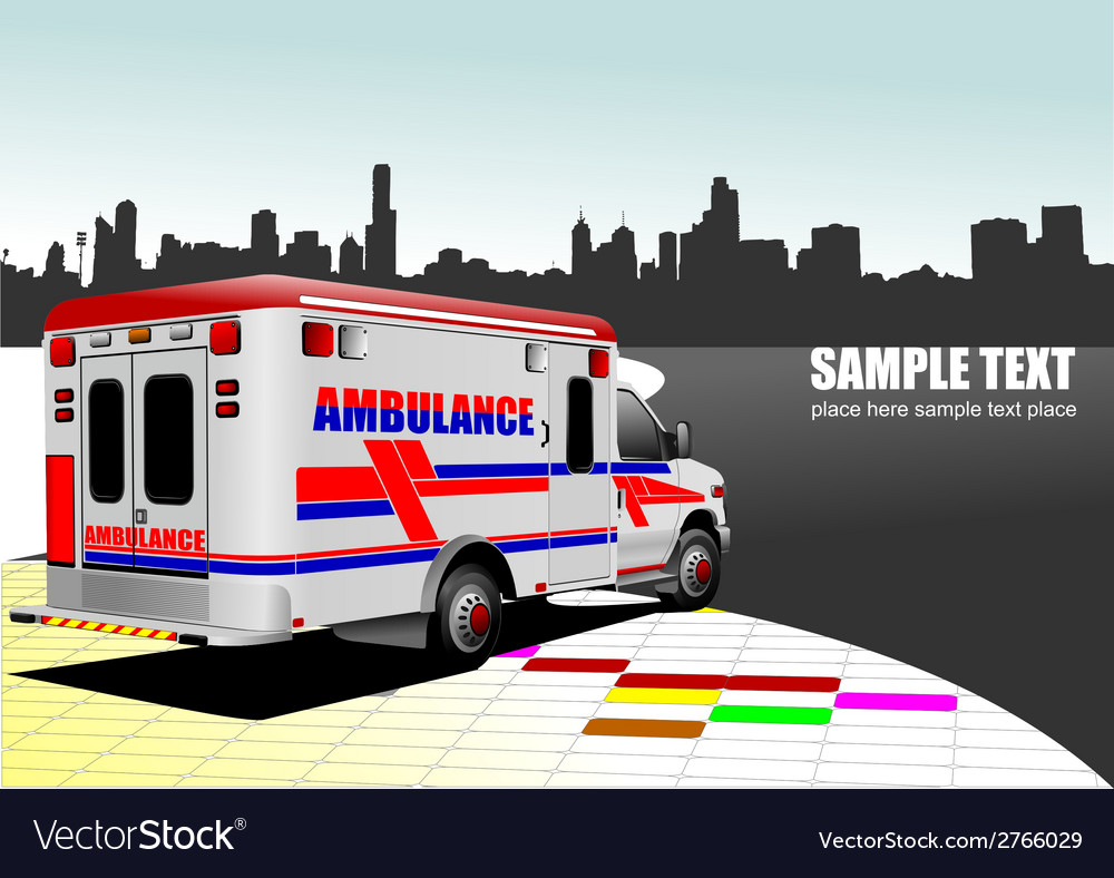 Al 0743 ambulance vector