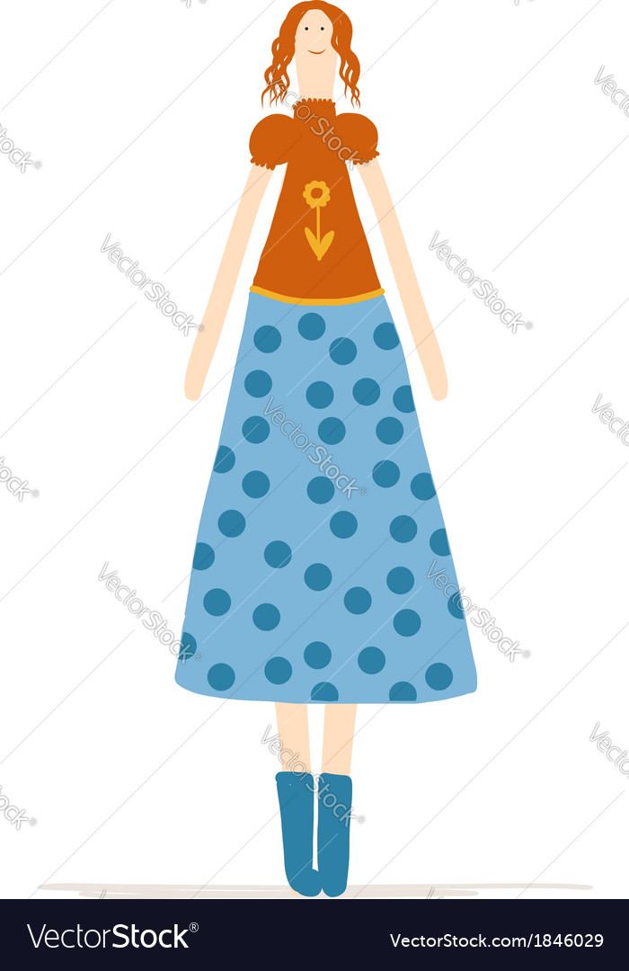 Beautiful woman sketch for your design vector