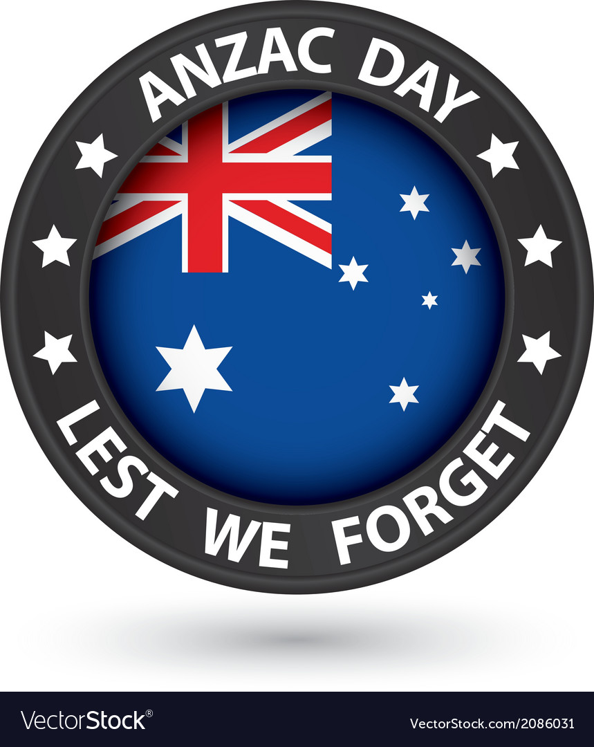 Anzac day lest we forget black label vector
