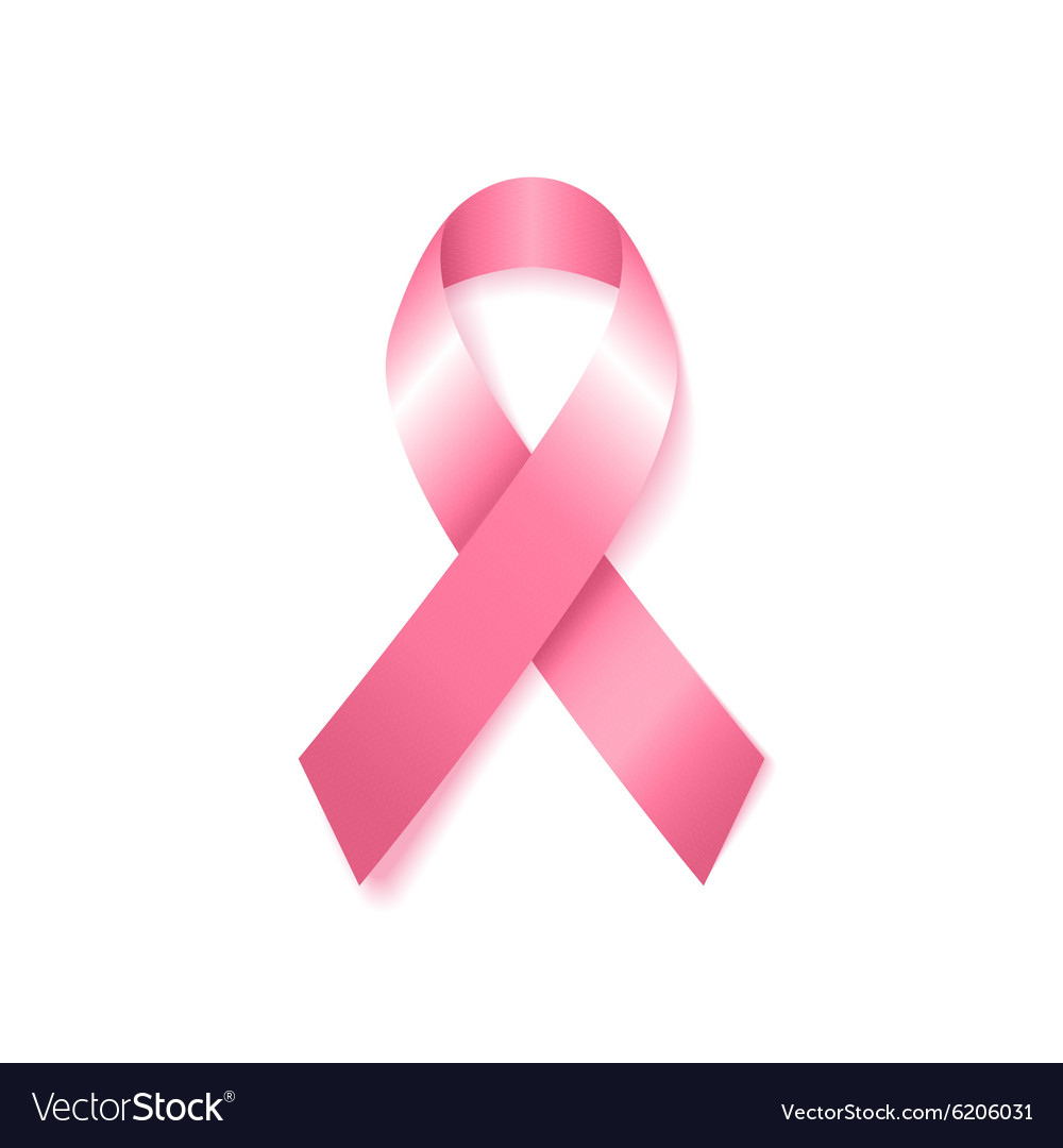 Breast cancer awareness pink ribbon vector