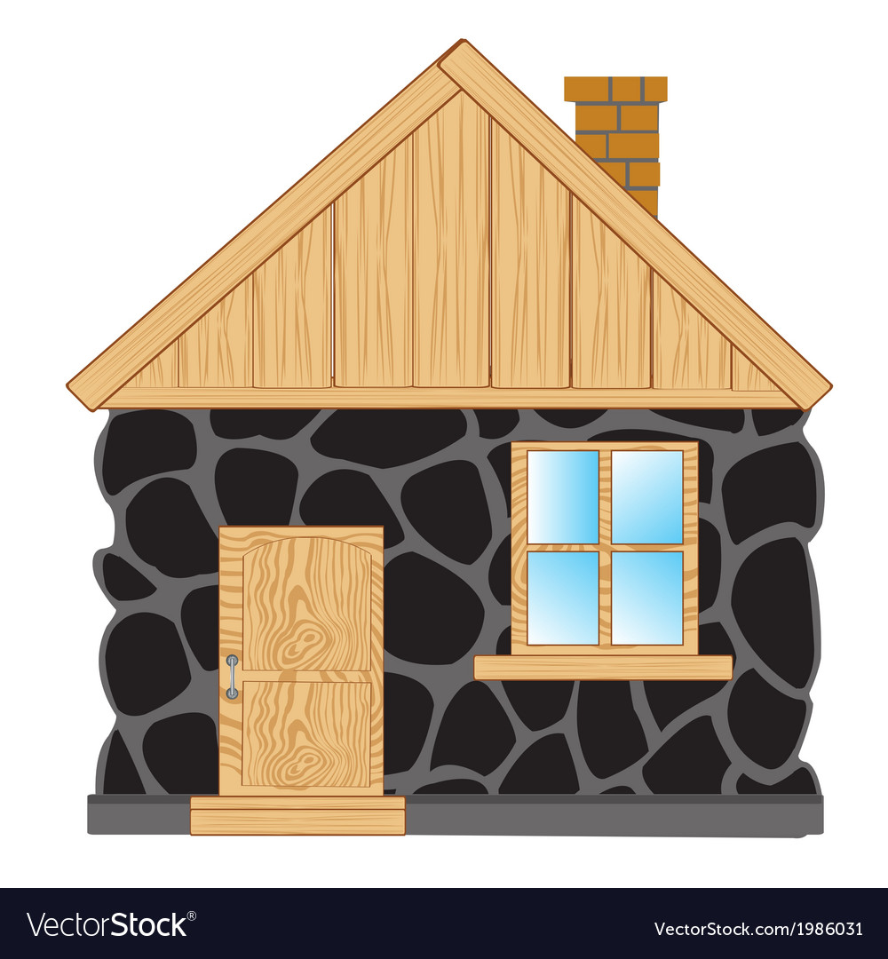 House from stone vector