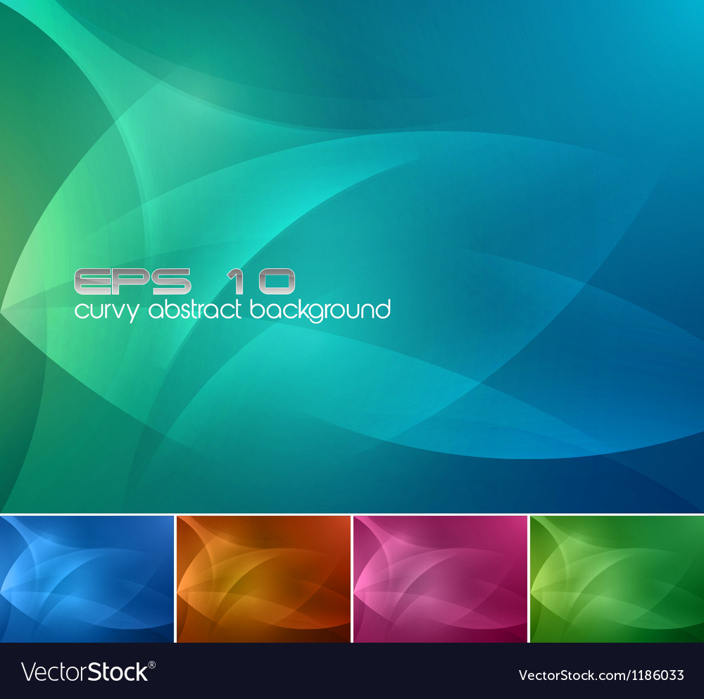 Curvy abstract background vector