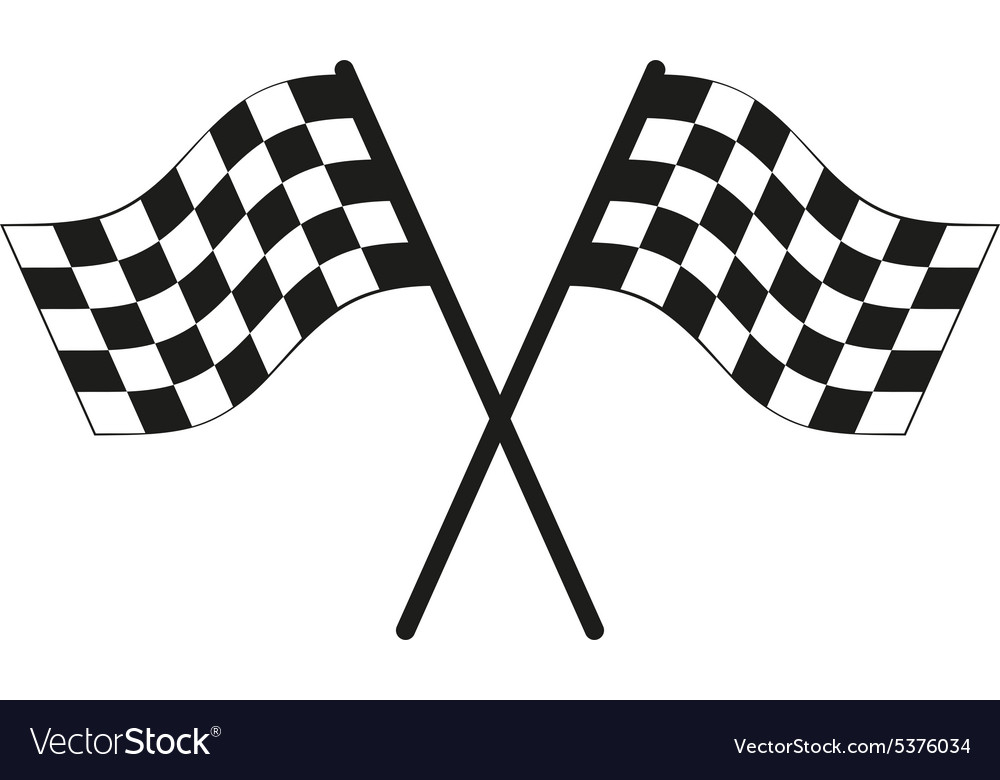 Checkered flag icon finish symbol flat vector