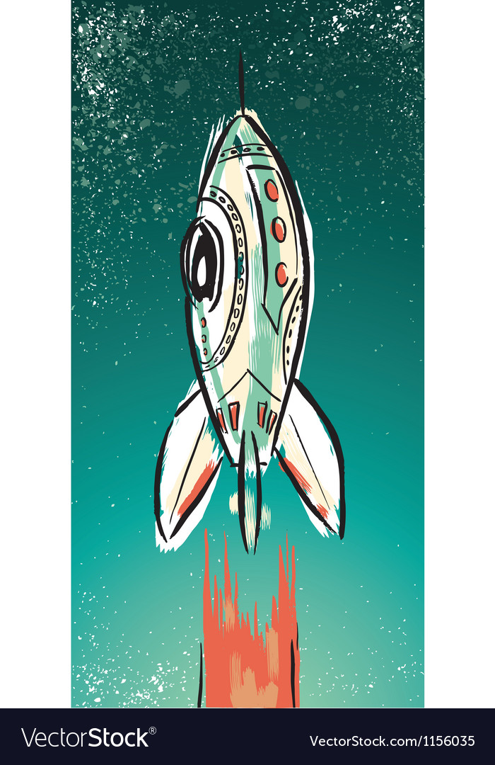 Rocket ship vector