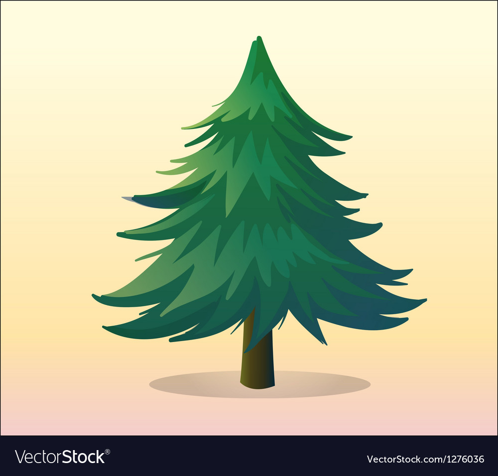 A big pine tree vector