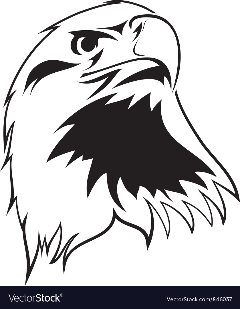 Stylized image of an eagle vector