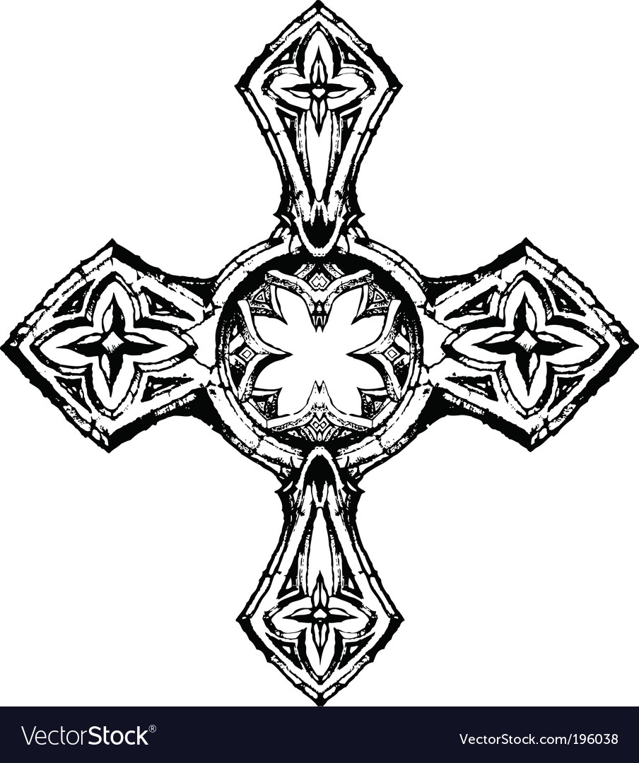Gothic cross vector
