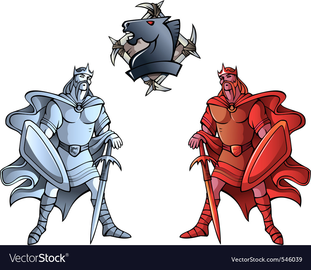 Chess set kings vector