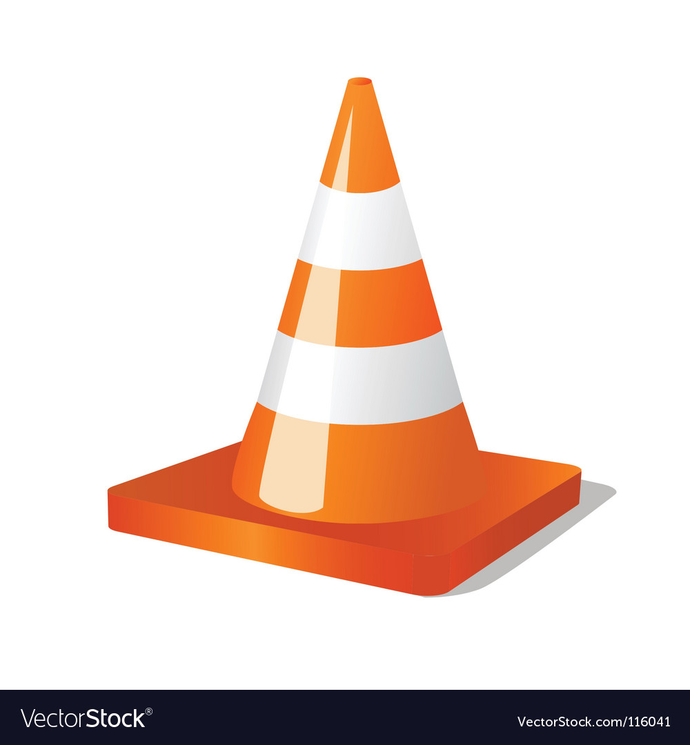 Construction and traffic cone vector