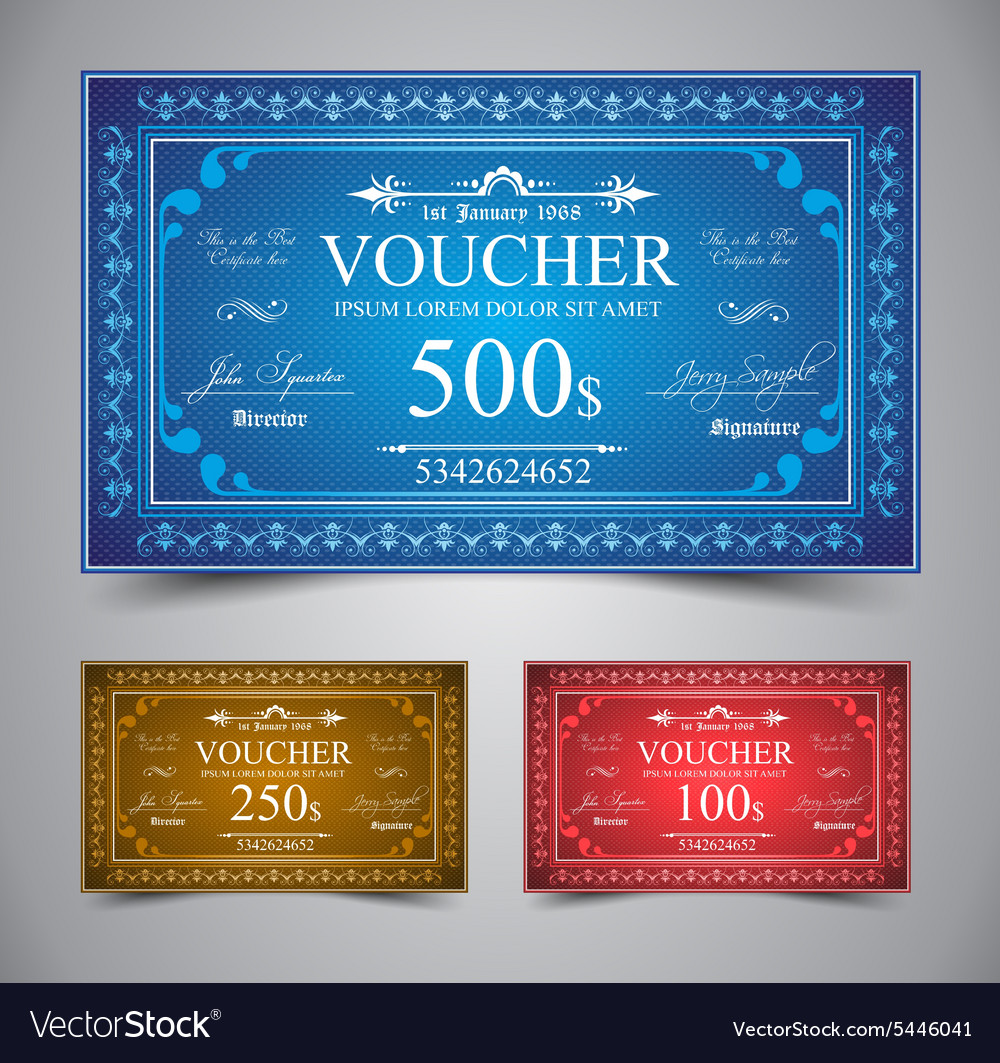 Elegant voucher design vector