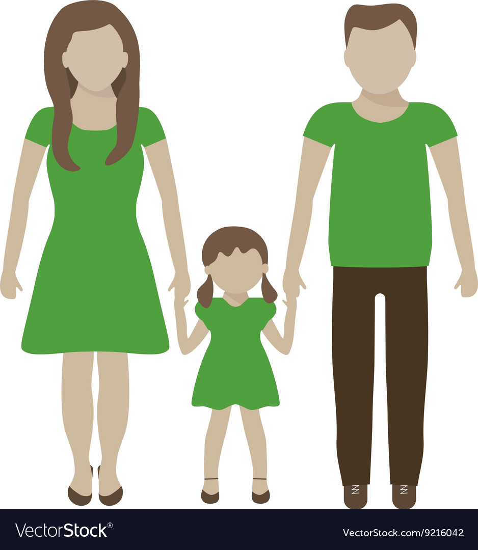 Family eco concept vector