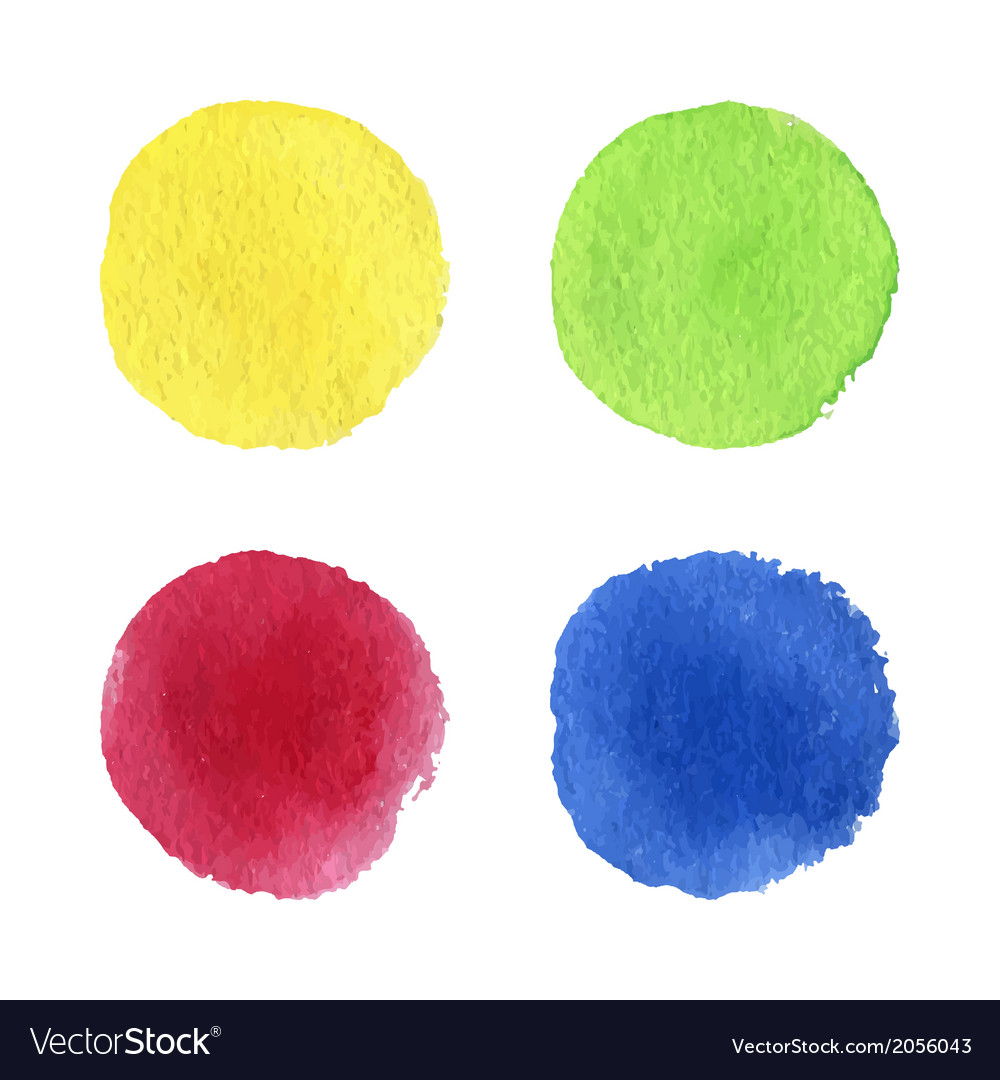 Four watercolor dots vector