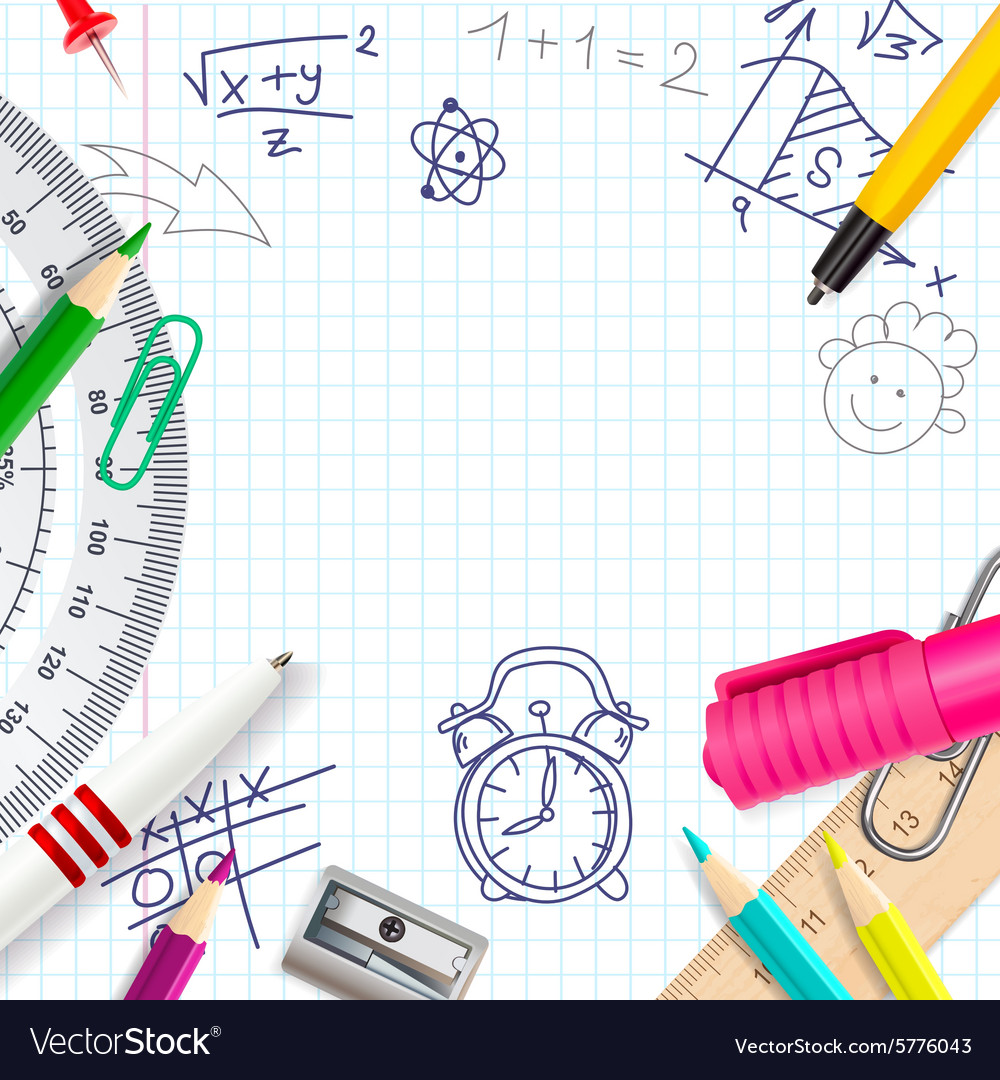 School creative background vector