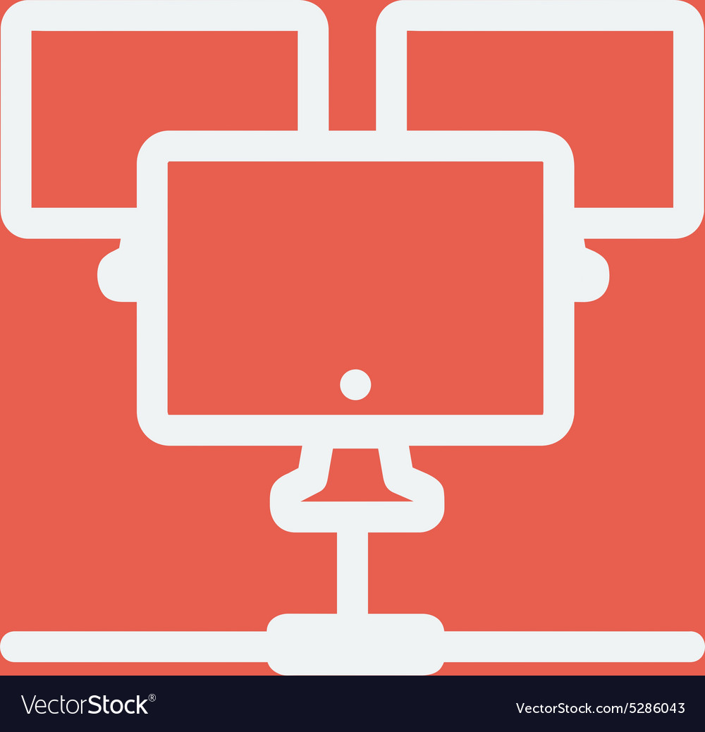 Three touch screen devices thin line icon vector