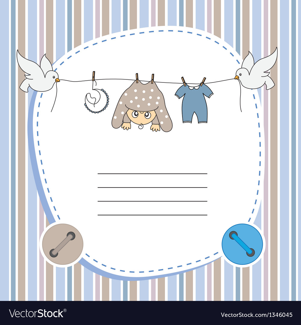 Baby boy card vector