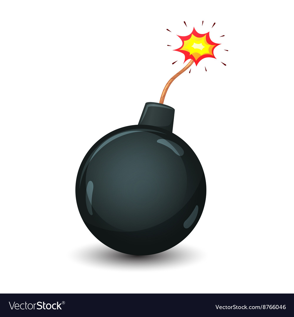 Bomb isolated on a white background vector