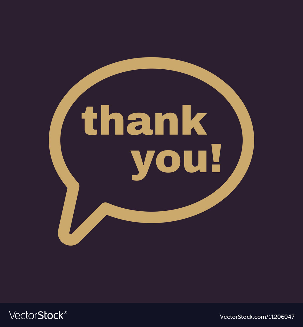 Thank you icon thanks symbol flat vector