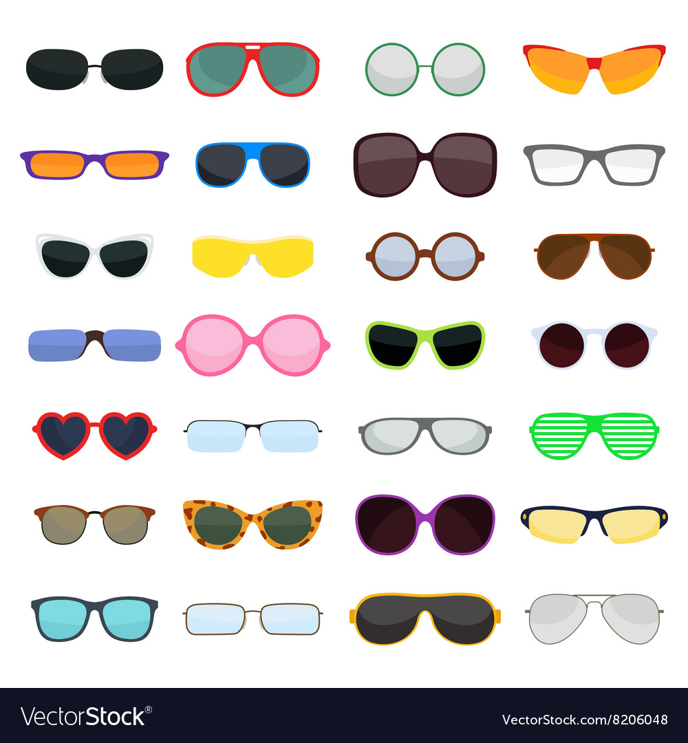 Fashion glasses isolated on white vector