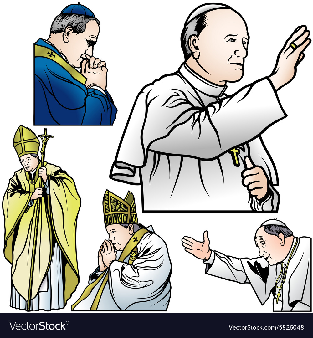 Pope set vector