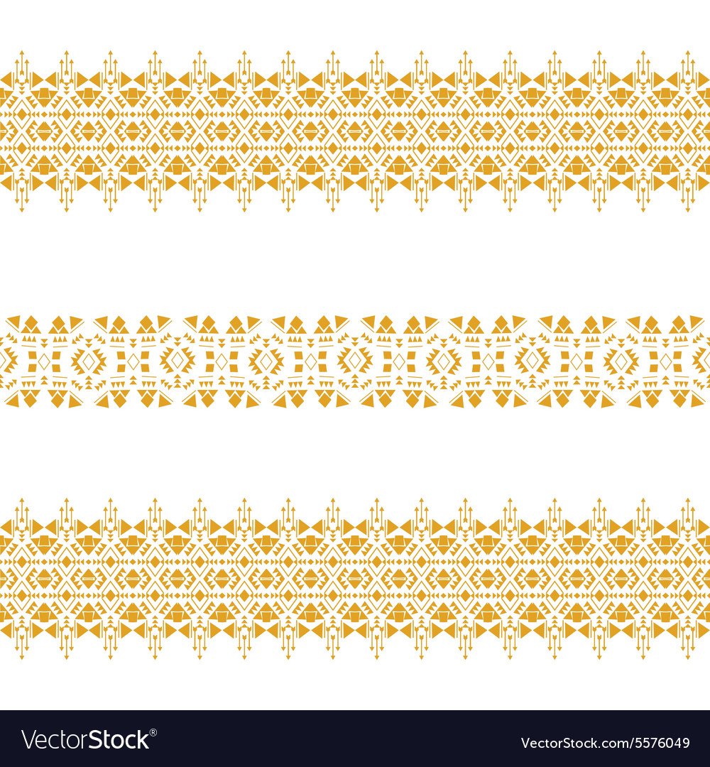Gold tribal seamless pattern vector