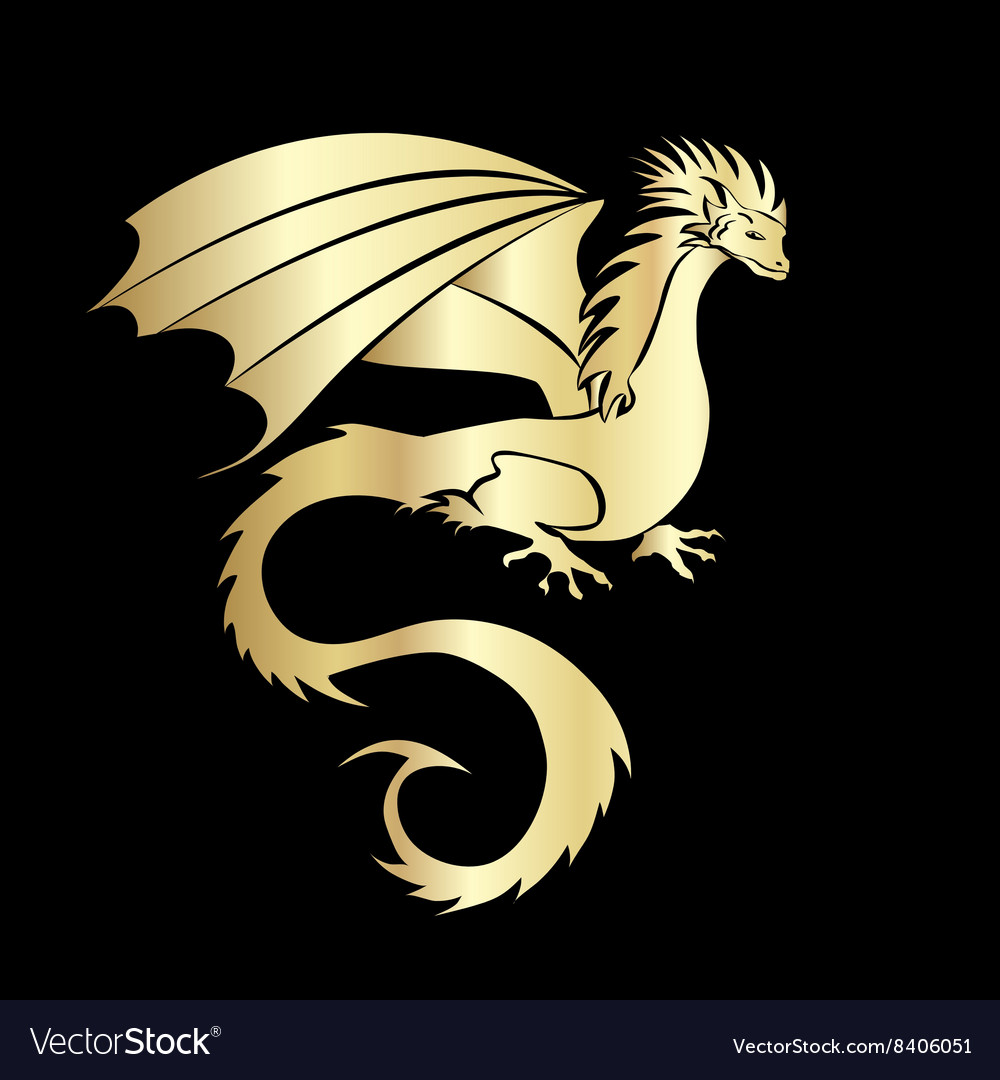 Stylized image of dragon vector