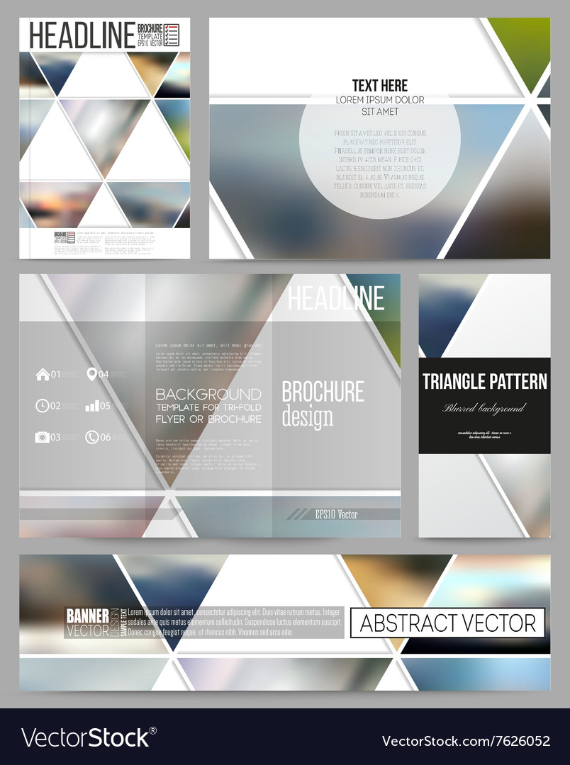 Business templates for presentation brochure vector