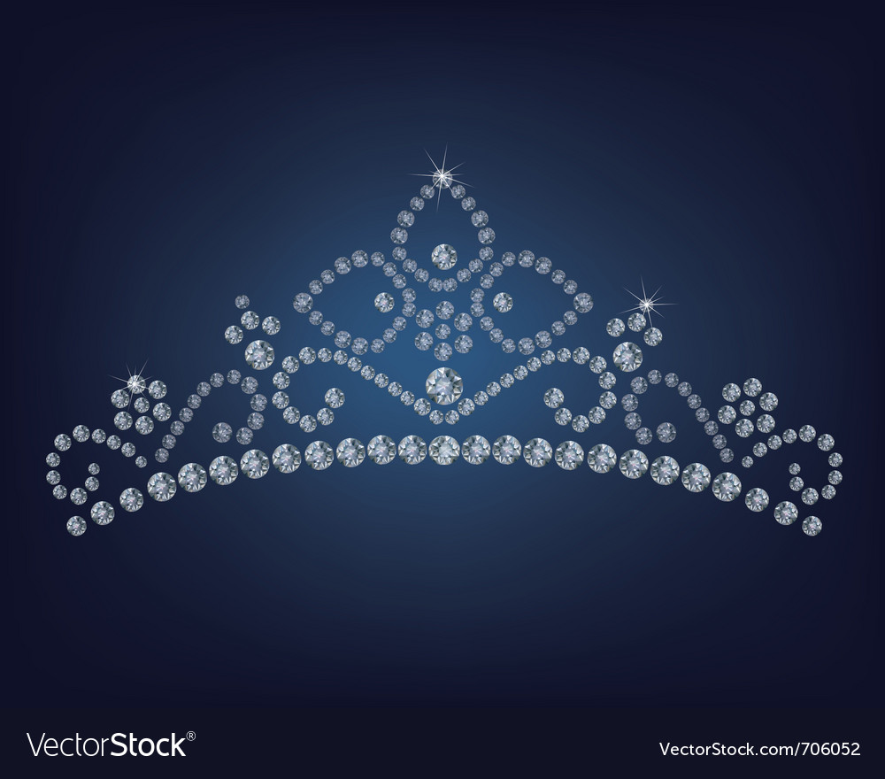 Diamond tiara  vector