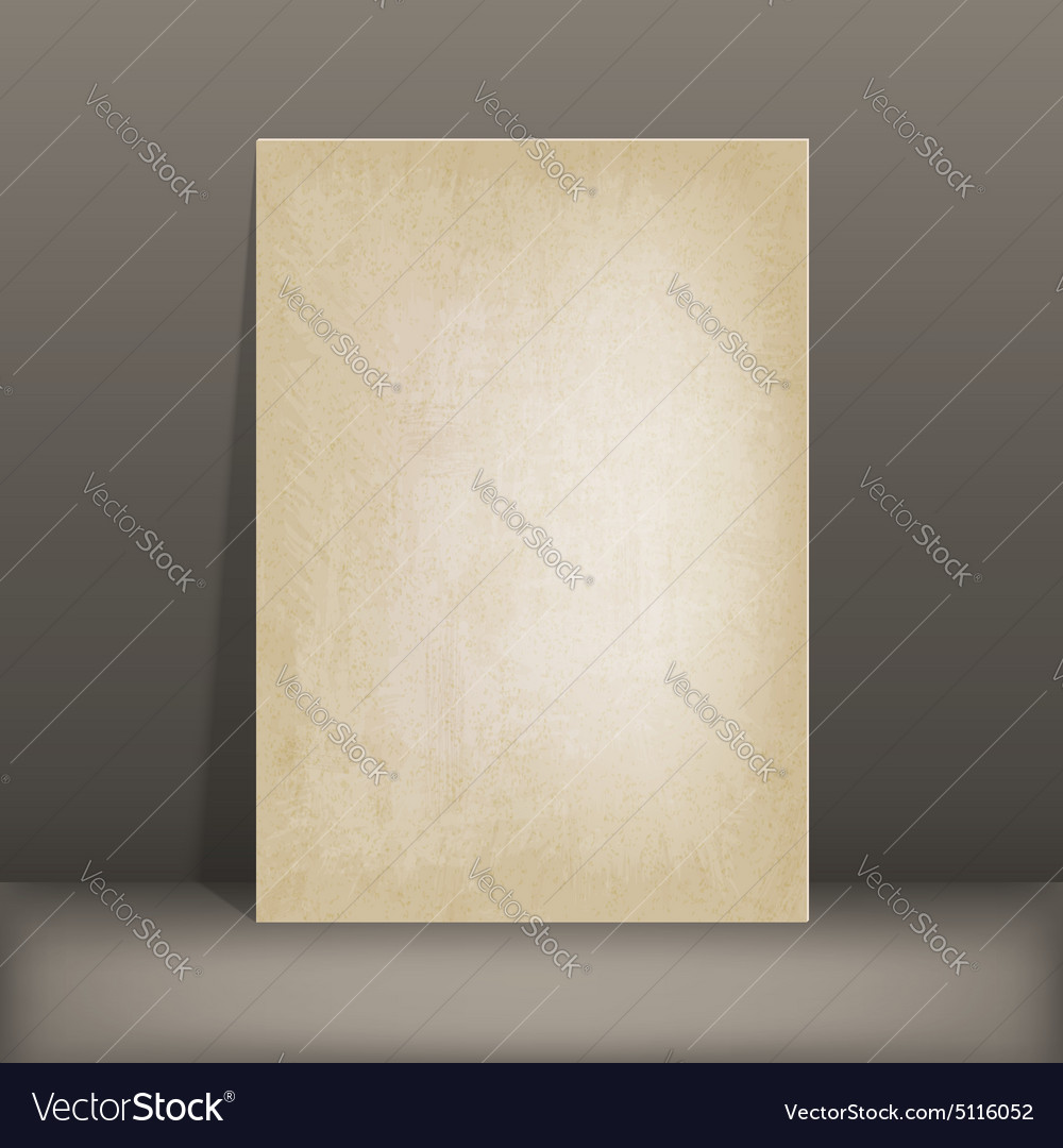 Grunge paper card vector