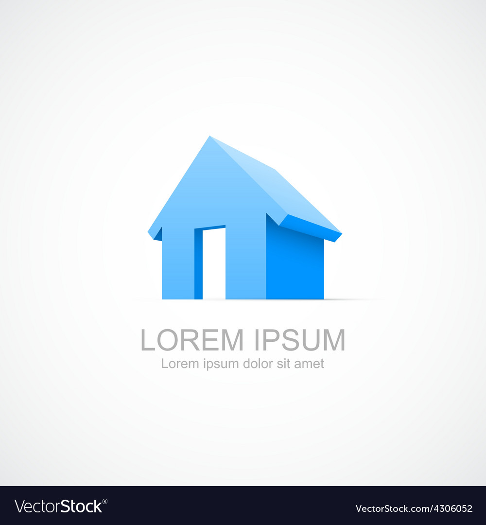 House abstract real estate icon vector