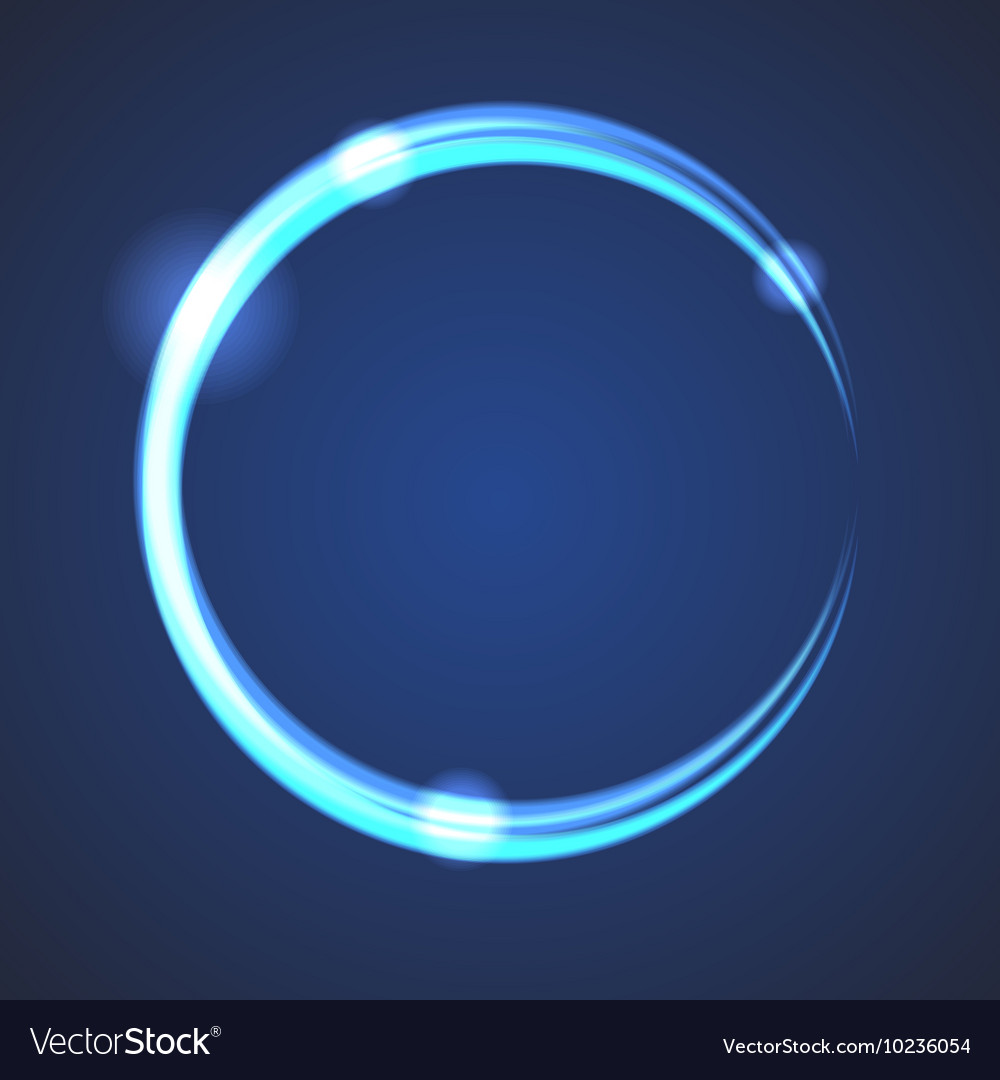 Glow effect eclipse circle vector