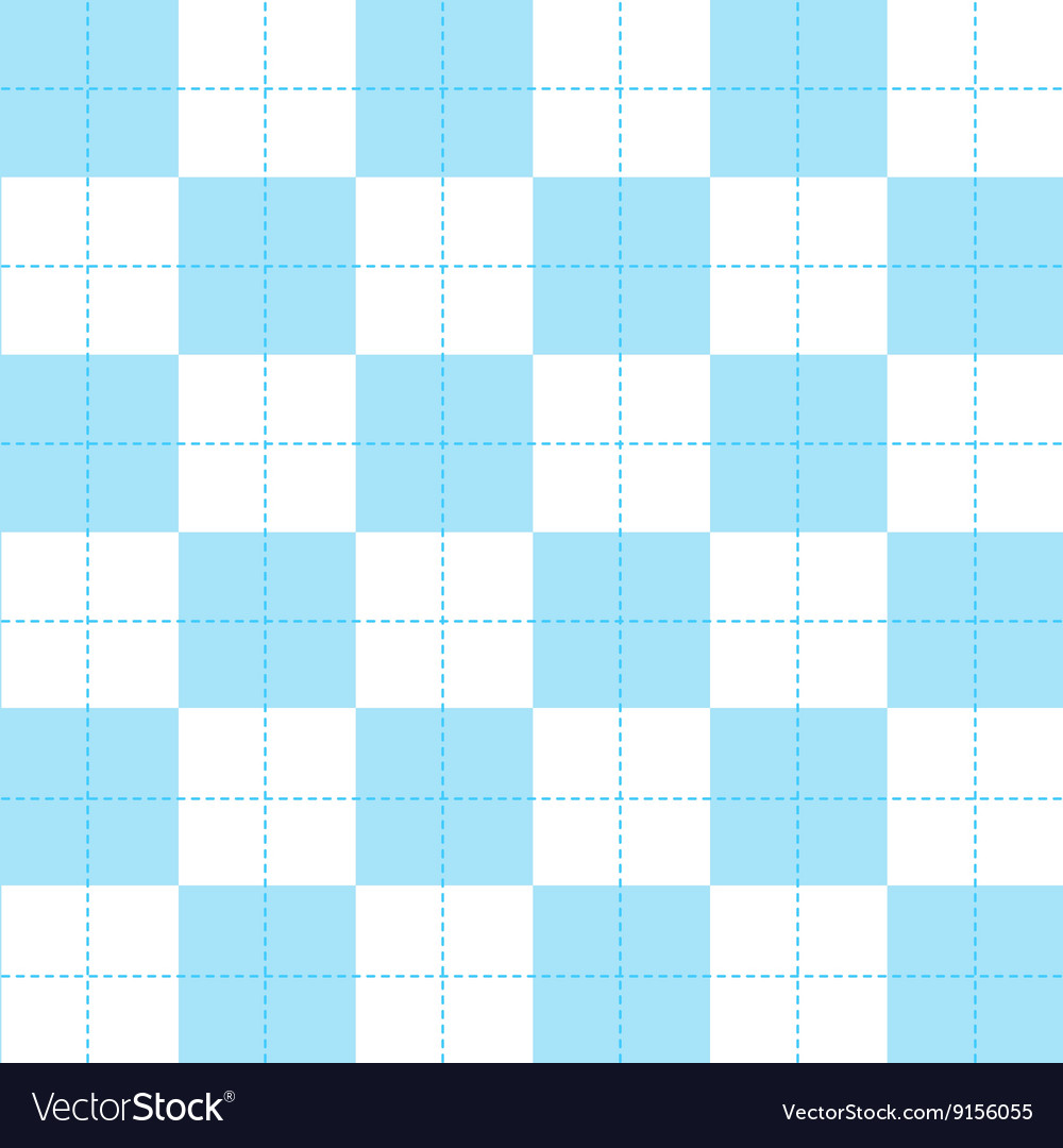 Blue white chess board background vector