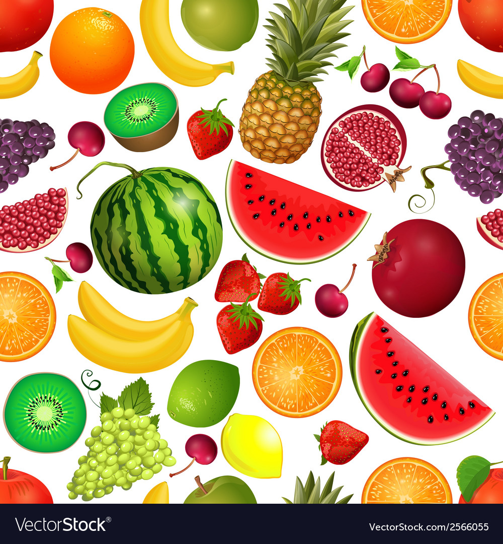 Seamless texture of fruit vector