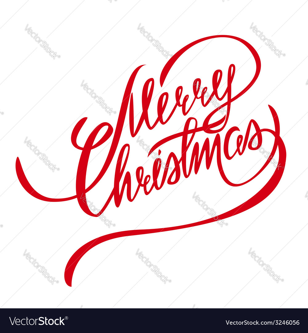 Merry christmas lettering  design element vector