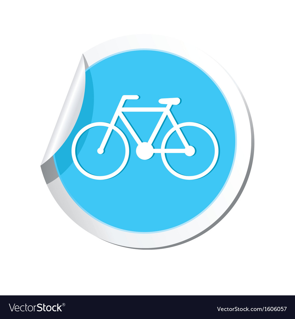 Bicycle icon round blue vector