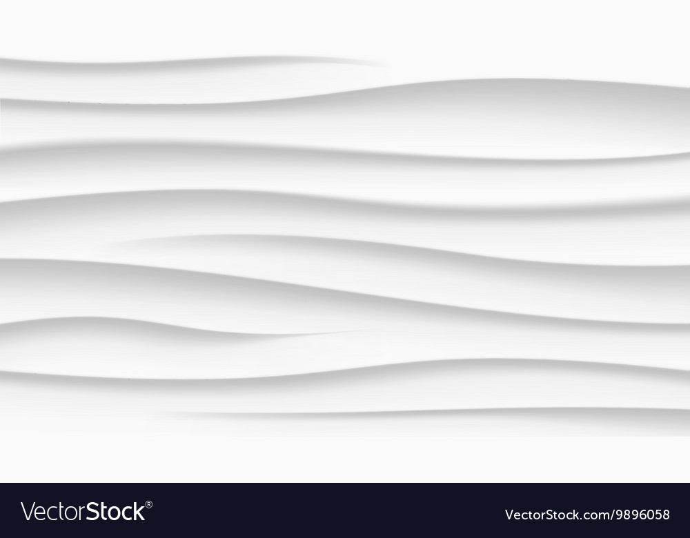 White texture wavy background interior wall vector