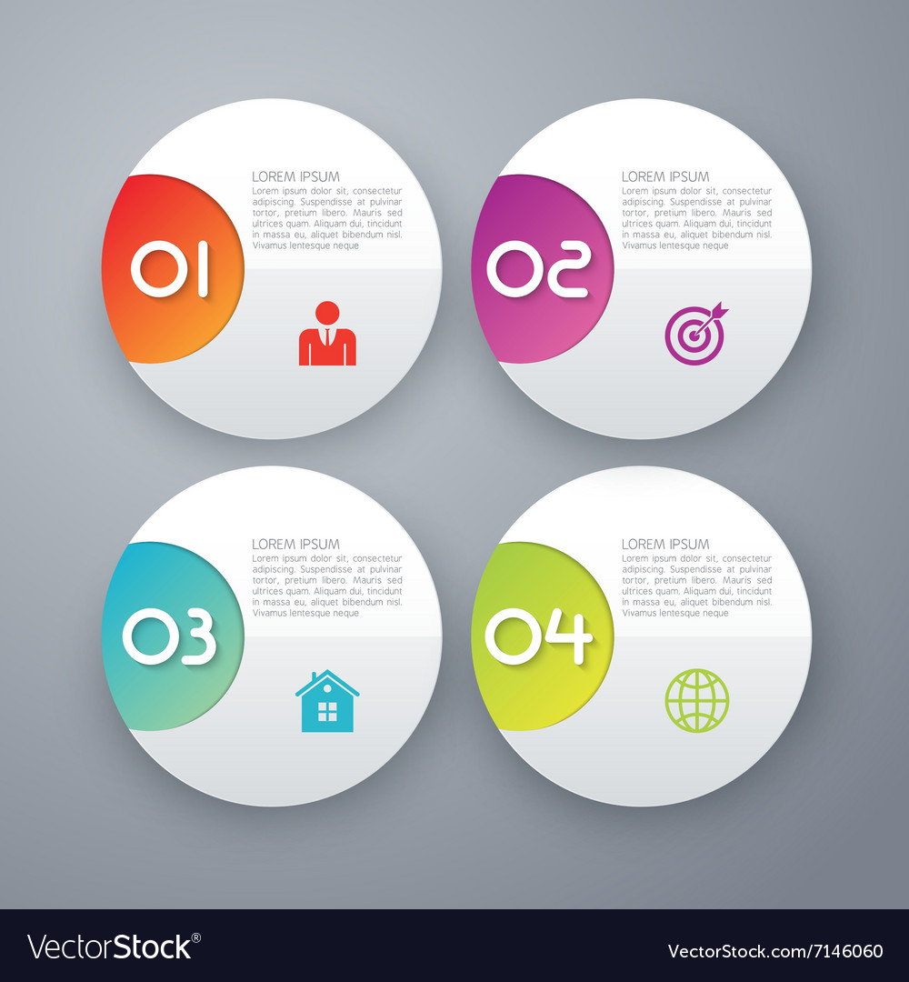 Four options infographics vector