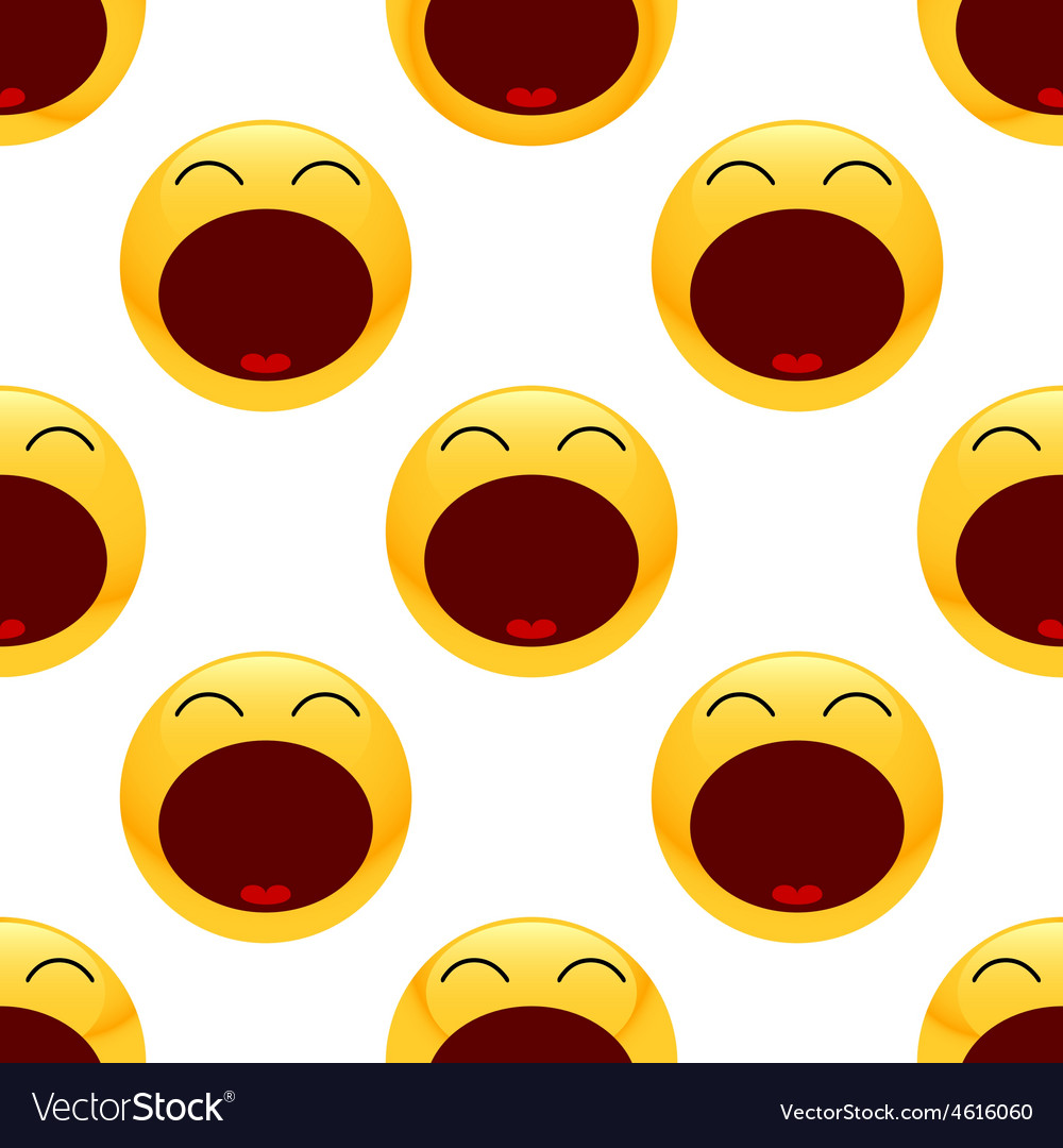 Tired emoticon pattern vector