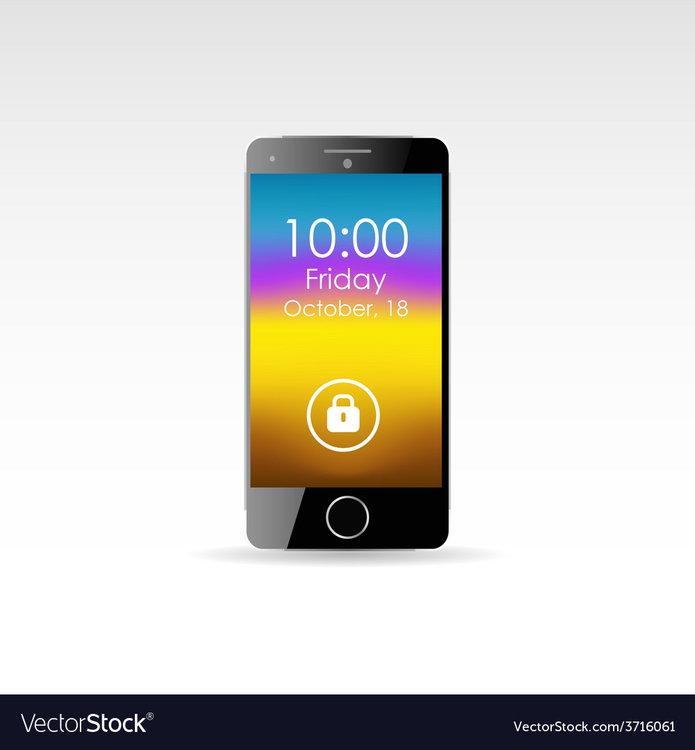 Isolated touch screen smartphone in eps10 format vector