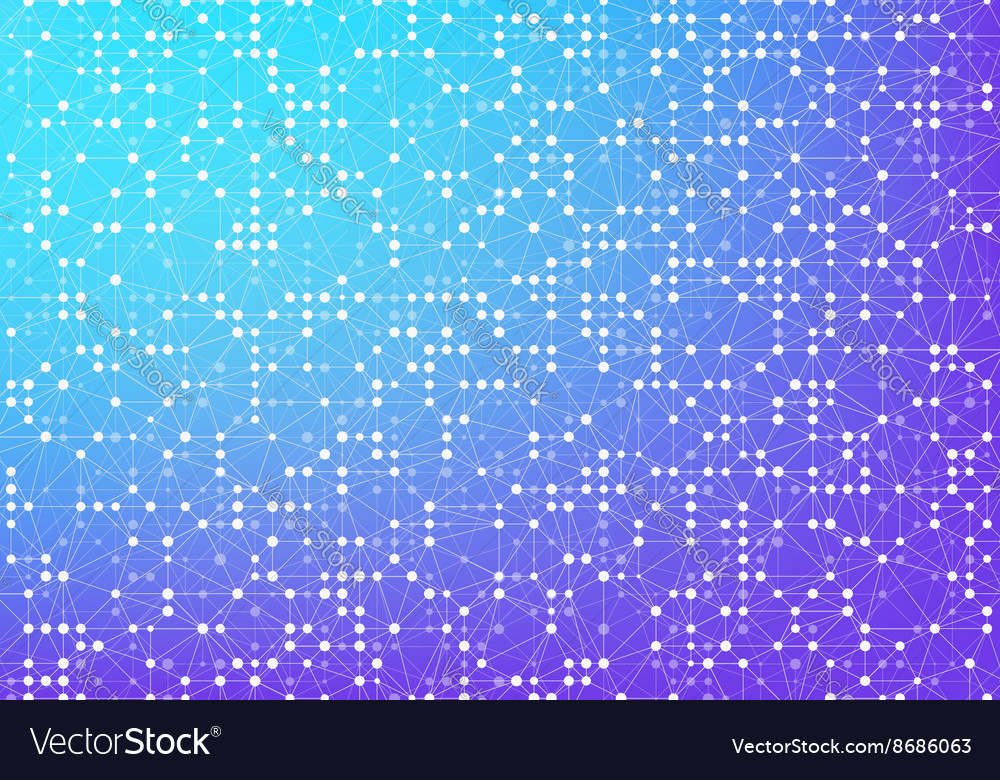 Abstract triangulated background connected lines vector
