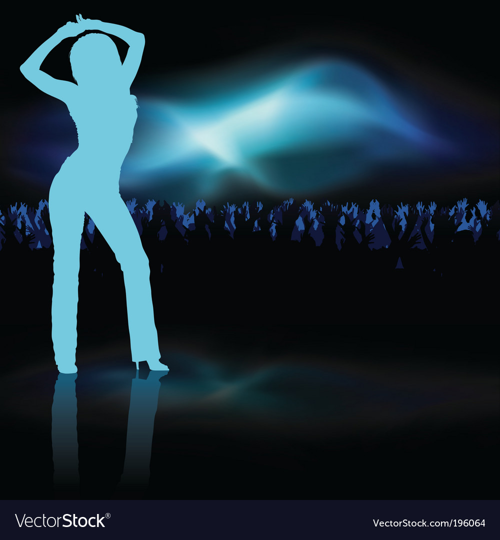 Dancing girl vector