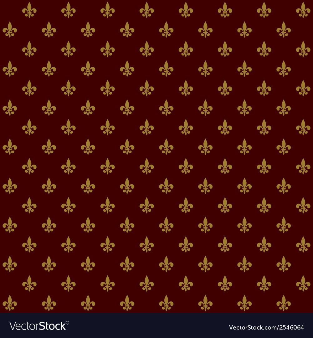 Royal lily fleur de lis seamless pattern vector