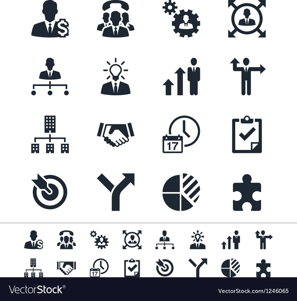 Business and management icons vector
