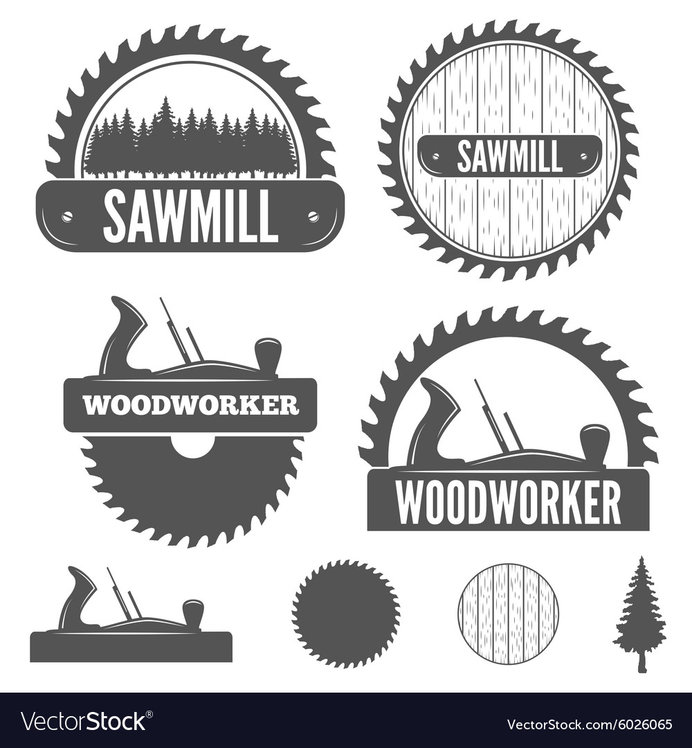 Set of badge labels or emblem elements for vector
