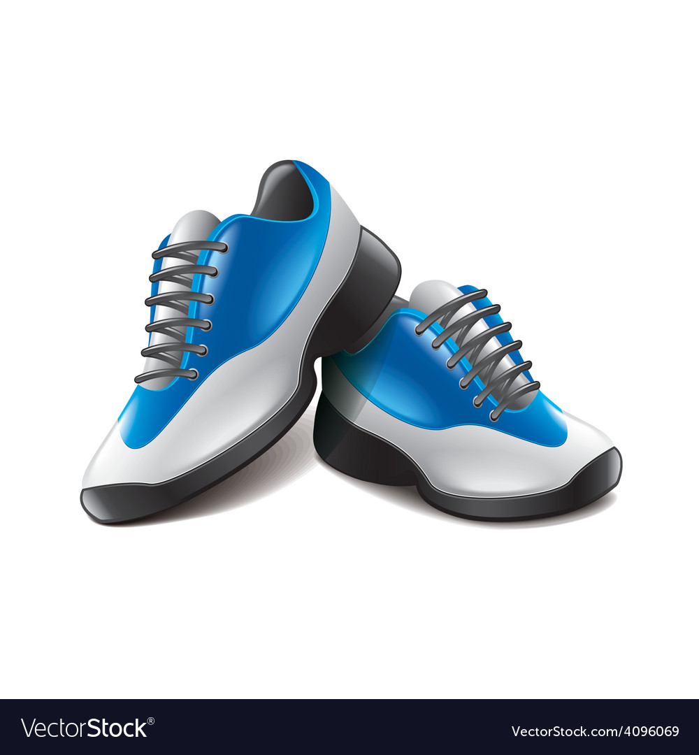 Sport shoes isolated vector