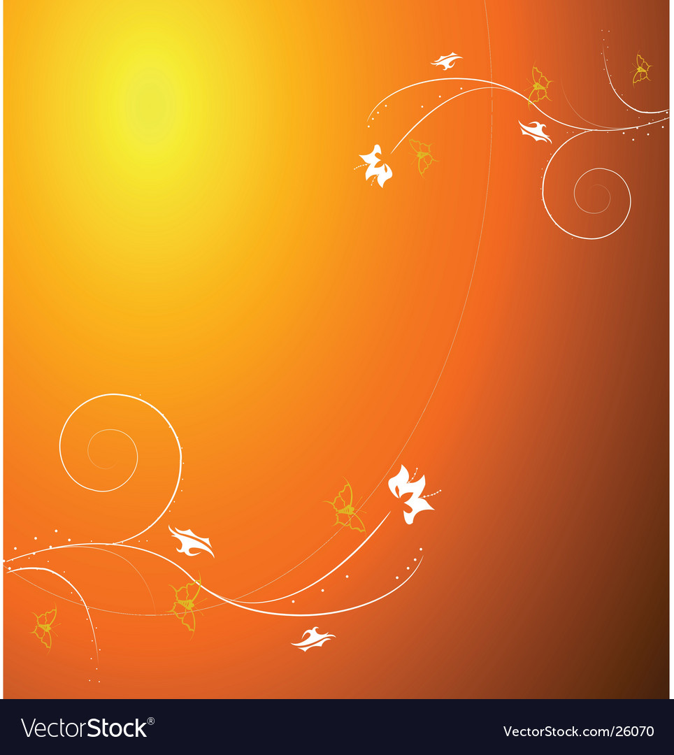 Autumn floral design vector